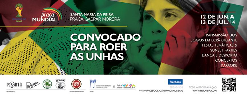 Vem celebrar o espírito do Mundial na Praça Gaspar Moreira.